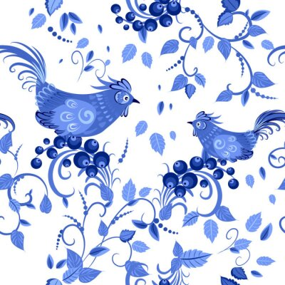 Obraz moda bezszwowych tekstur z stylizowane kwiaty