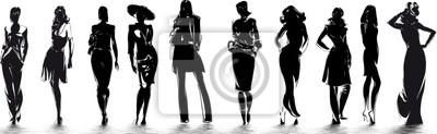Obraz mode - sylwetki de femme