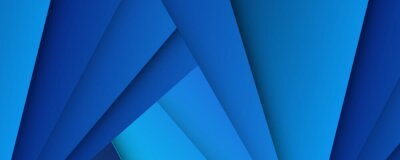 Obraz Modern 3d blue abstract background with overlap layers. Dark blue background with abstract graphic elements for presentation background design.