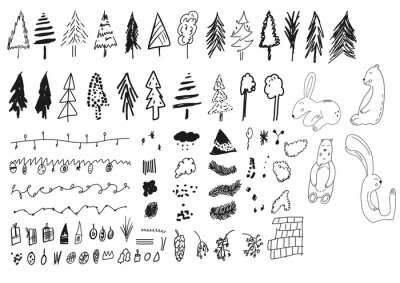 modern art social media instagram high lights plats child forest