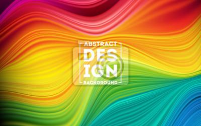 Obraz Modern colorful flow poster. Wave Liquid shape color background. Art design for your design project. Vector illustration EPS10
