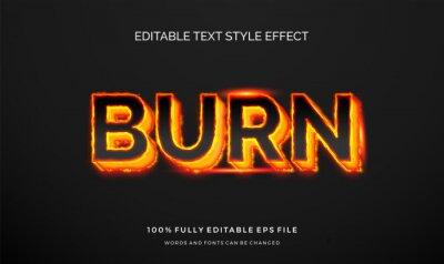 Obraz Modern editable text style effect illustrator. vector design template.