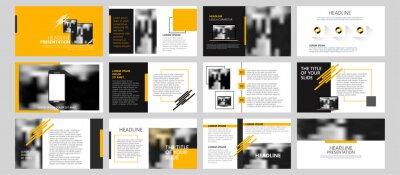 Obraz Modern powerpoint presentation templates set for business. Use for modern keynote presentation background, brochure design, website slider, landing page, annual report, company profile, portfolio