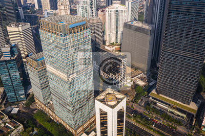 Modern skyscrapers in the heart of Jakarta business district in Indonesia capital city, a major financial center in Southeast Asia