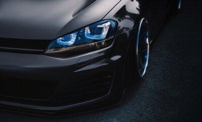 Obraz modern sports car tuning close up Wallpaper