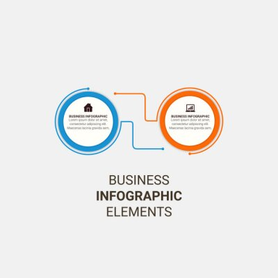 Modern vector infographic template, diagram, graph, presentation. Business concept with 3, 4, 5, 6 options and arrows. For content, flowchart, timeline, workflow, marketing