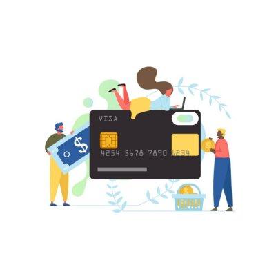 Money transfer, vector flat style design illustration