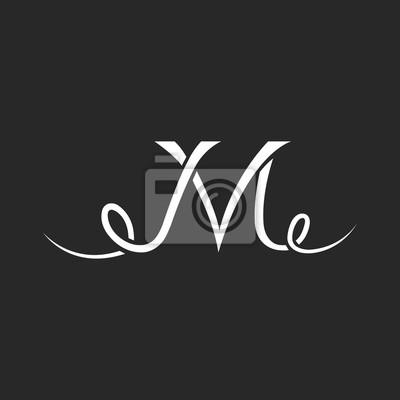 Obraz Litera J Logo Z Loki Tatuaż Projektowania Litery