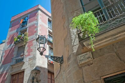 Montcada street in Barcelona,Spain