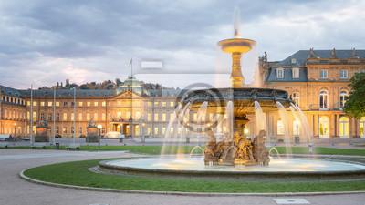 Obraz Morning View of Stuttgart Schlossplatz