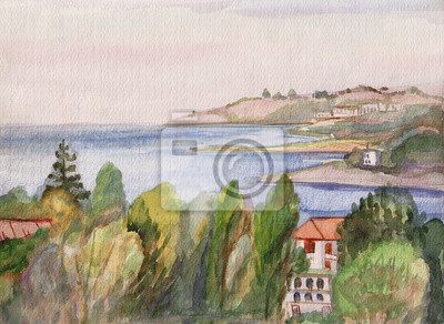Obraz Morze i góry