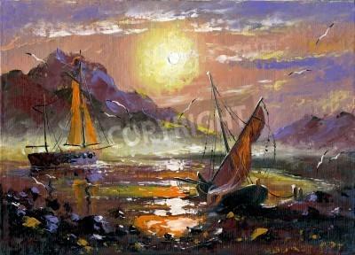 Obraz Morze krajobraz wykonywane przez olej na płótnie