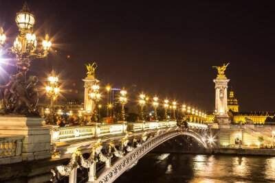 Obraz Most Aleksandra III w Paryżu
