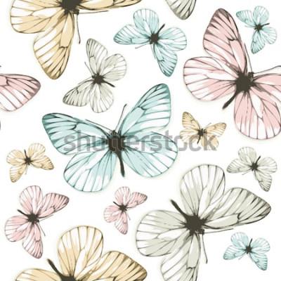 Obraz Motyle Aporia (tło z kafelkami)
