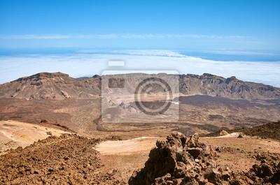 Mount Teide volcanic landscape, Teide National Park, Tenerife, Spain.