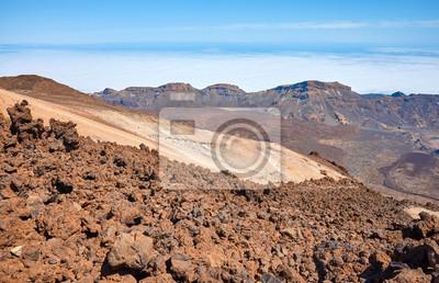 Mount Teide volcanic landscape, Tenerife, Spain.
