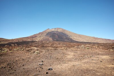 Mount Teide, volcano on Tenerife in the Canary Islands with cloudless sky, Spain.