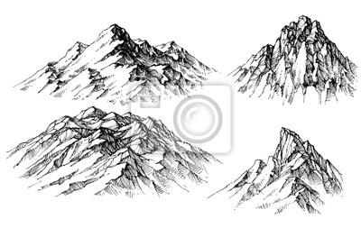 Obraz Mountain ustawiony. Izolowane szczyty wektor