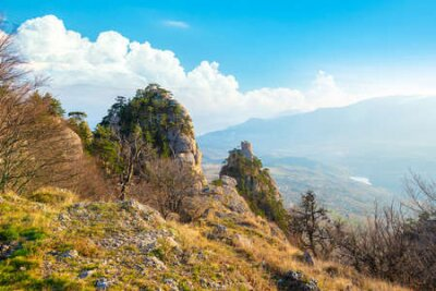 Obraz Mountains in the valley of ghosts. Crimea