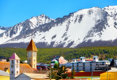 Mountains over Ushuaia, the southernmost city in the world, Argentina.
