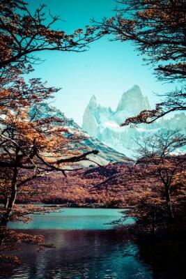 Obraz Mt Fitz Roy, Los Glaciares National Park, Patagonia, Argentyna