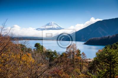 Mt Fuji widok z jeziora