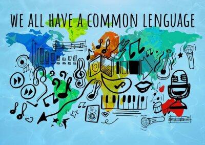Obraz Muzyka graficzna z tłem świata