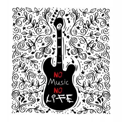 Obraz muzyka koncepcji ilustracja do plakatu lub dekoracji