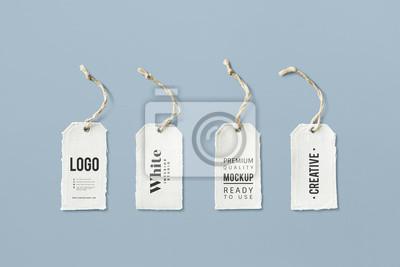 Obraz Natural cotton cloth label mockup