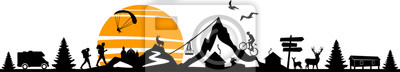 Obraz Nature Landscape Mountain Sport Vector