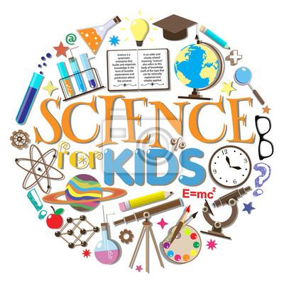 Obraz Nauka dla dzieci. Symbole szkolne i elementy projektu samodzielnie na