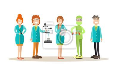Nauka ludzi koncepcja ilustracji wektorowych w stylu płaski