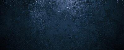 Obraz Navy Blue Cement Background. Old Dark blue background. Blue wall texture