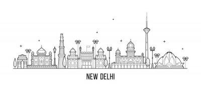 Obraz New Delhi skyline India this city buildings vector
