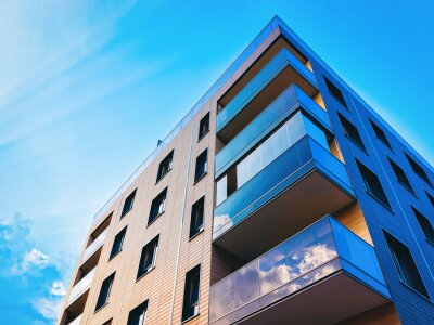 Obraz New modern apartment building exterior_4x3