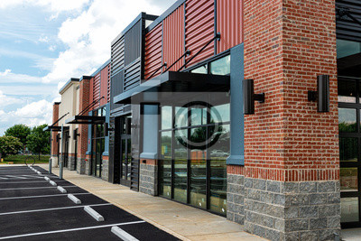 Obraz New Shopping Strip Center Almost Ready to Open