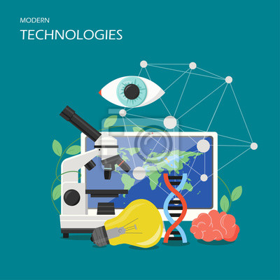 New technologies vector flat style design illustration