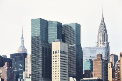 New York City architecture, color toned picture, USA.