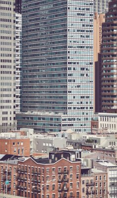 New York City cityscape, color toning applied, USA.