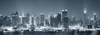 New York City Manhattan czerni i bieli