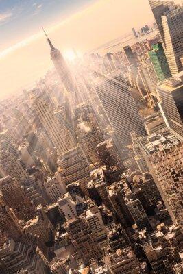 Obraz New York City Manhattan skyline słońca.