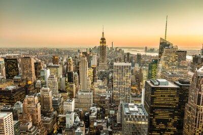 Obraz New York City Manhattan skyline śródmieścia.