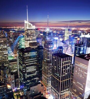 New York City Manhattan Times Square skyline