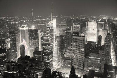 New York City Manhattan Times Square skyline lotnicze widok panoram