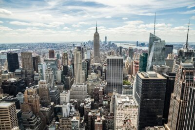Obraz New York City Midtown Manhattan skyline widok budynków
