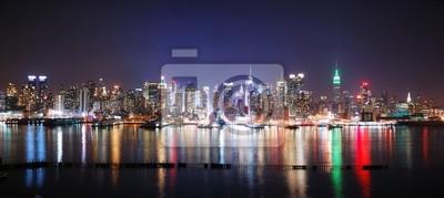 NEW YORK CITY NIGHT PANORAMA