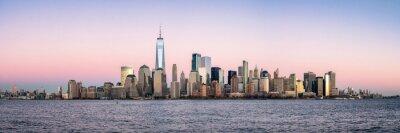 Obraz New York City skyline panorama with One World Trade Center