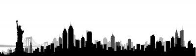 Obraz New York City Skyline Silhouette Vector Illustration