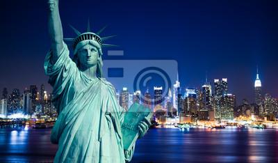 New York Manhattan pomnik la de Liberté