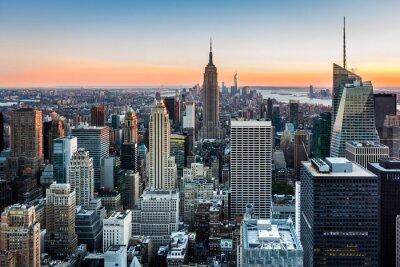Obraz New York Skyline o zachodzie słońca
